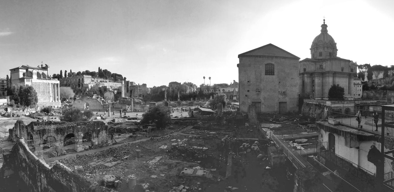 Foro Romano, Roma Italy Rome Archeology Forum Ancientrome Blackandwhite Wideangle Monochrome Panorama Cityscapes Fororomano