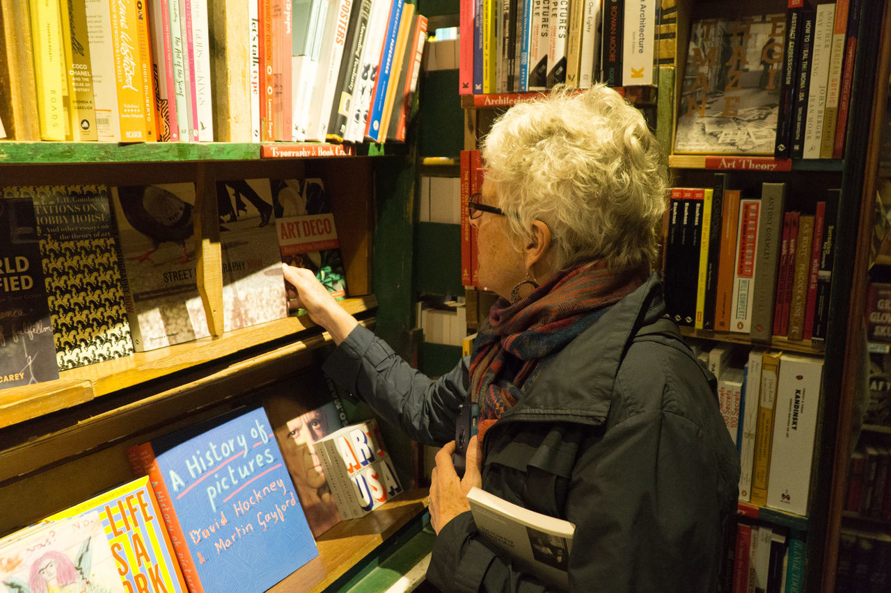 Shakespeare and Company, Paris bookstore Adult Adults Only Book Store Bookshelf Day Gray Hair Indoors  Library One Man Only One Person One Senior Man Only Only Men People Retirement Senior Adult Shakespeare And Company Paris Waist Up Wisdom