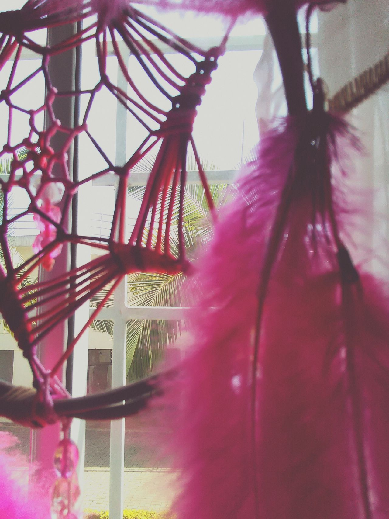 No People Day Outdoors Window Accesories Dream Catcher Pink Happy