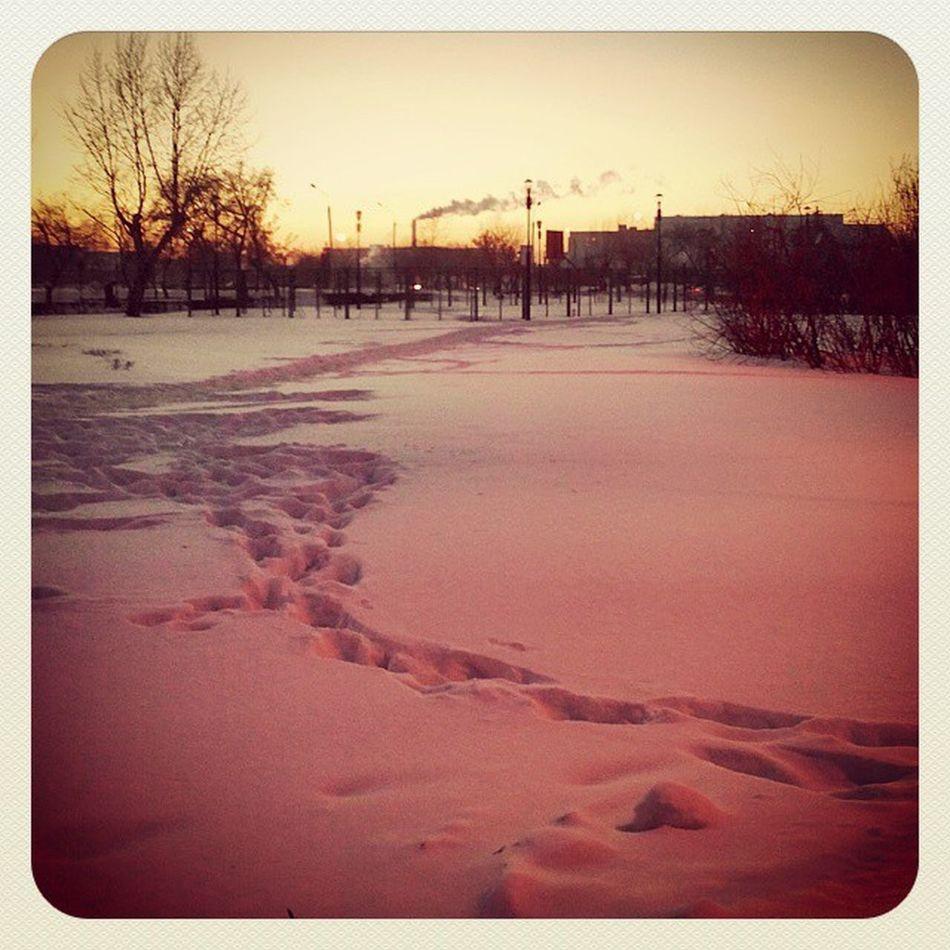 омск сибирь розовый снег индустриальный Закат зима Морозисолнце Omsk Siberia Pink Snow Industrialsunset Frostandsun Frost Landskape