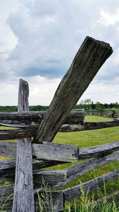 Stormbrewing Manassasbattlefield Manassas National Battlefield Park Clouds And Sky Stormy Weather Storm Clouds Fences Fence Civil War