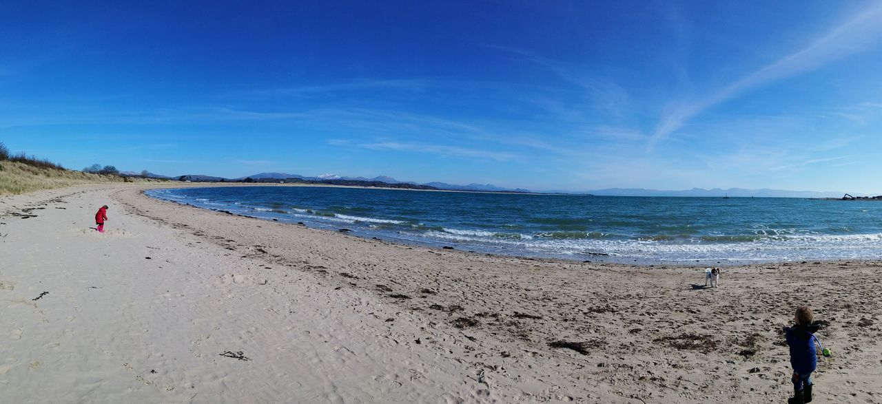 Panoramic Photography Blue Sky Sea And Sky Penllyn Cymru North Wales Landscapes With WhiteWall Here Belongs To Me