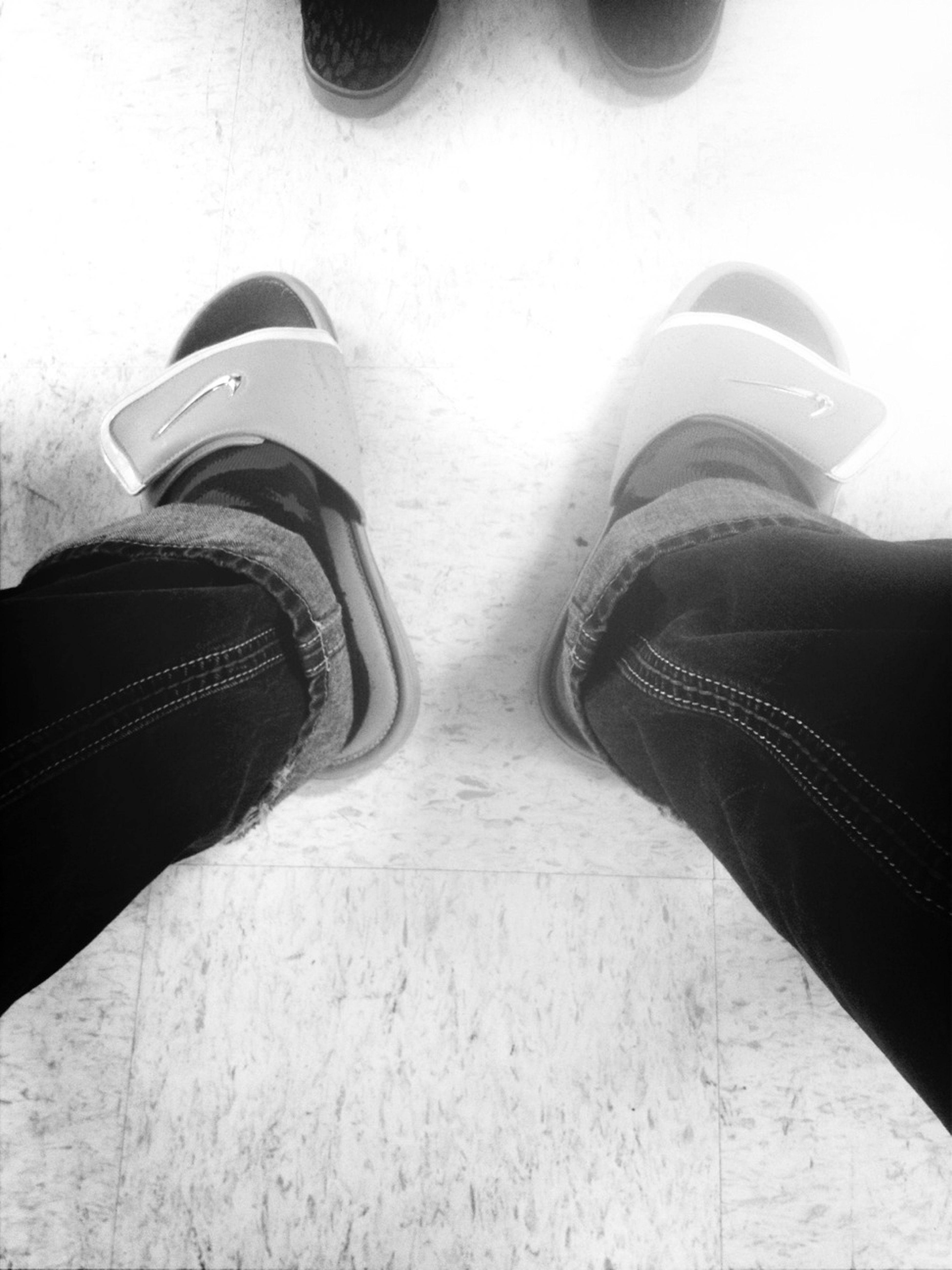 I Wear Rocks With Dc Socks And Nike Slides.