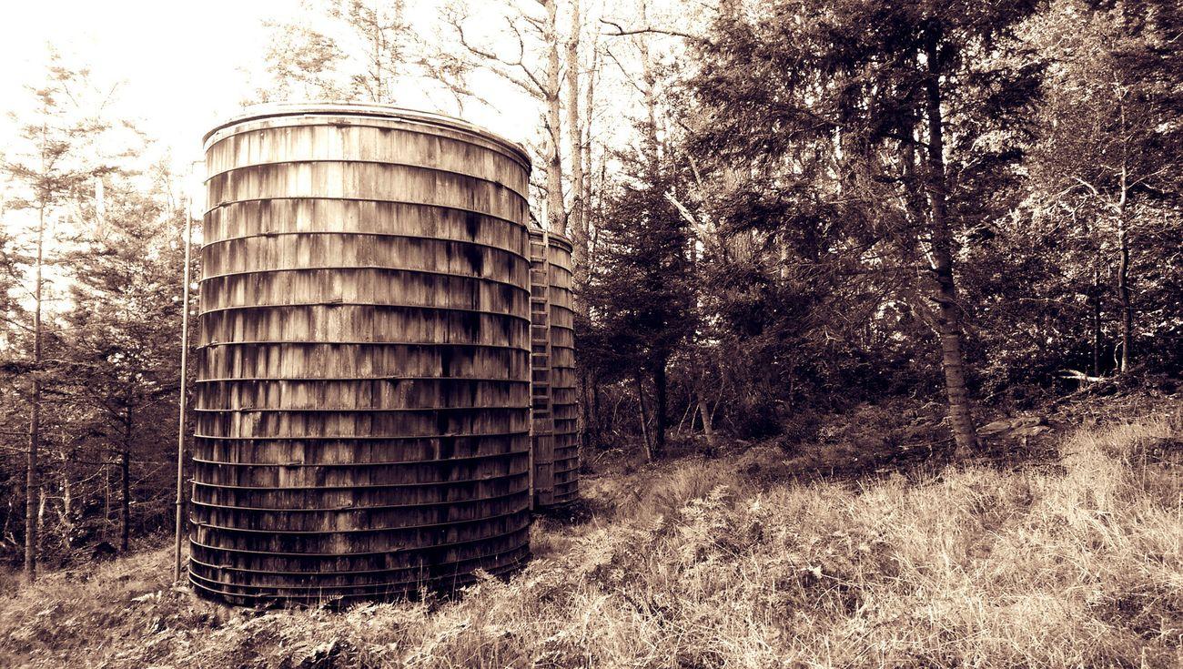 Walking Around Old Structures Watertank Wooden Structure