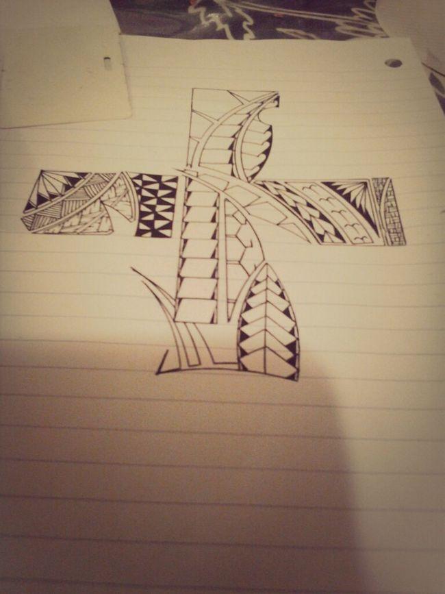 Cross Tribal Blessed  American Samoa