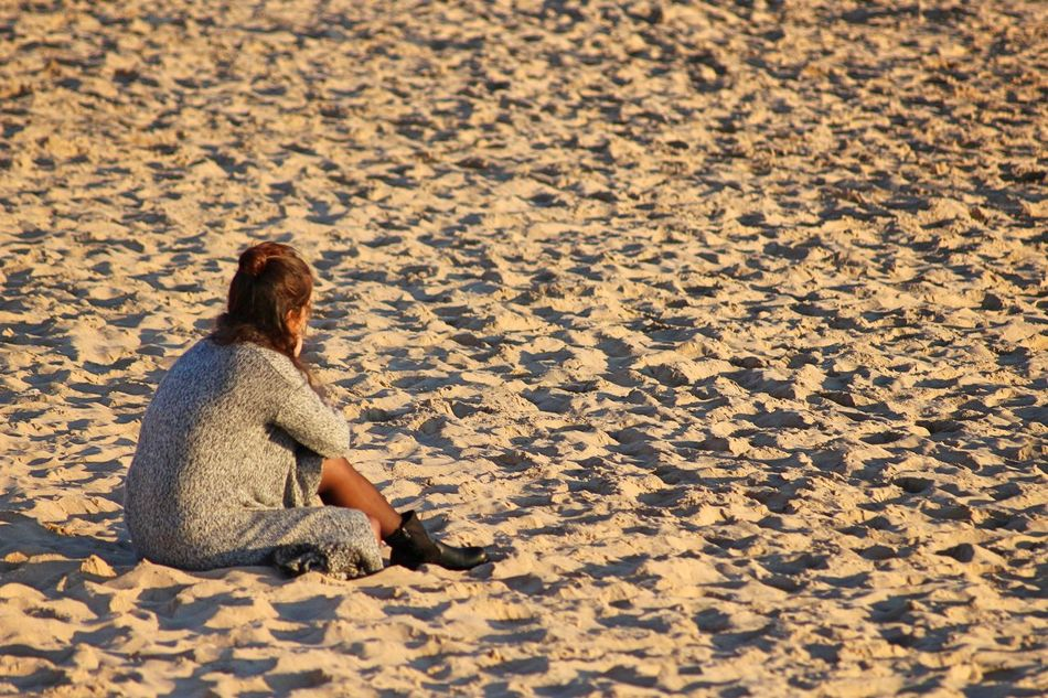 Beach Beautiful Nature Beauty In Nature Close-up Enjoying Life Enjoying The View From My Point Of View Light And Shadow Long Goodbye Nature One Person Outdoors People Person Real People Relaxation Sand Sitting Sunlight Sunset Travel Destinations Watching The Sunset Woman Women Young Women