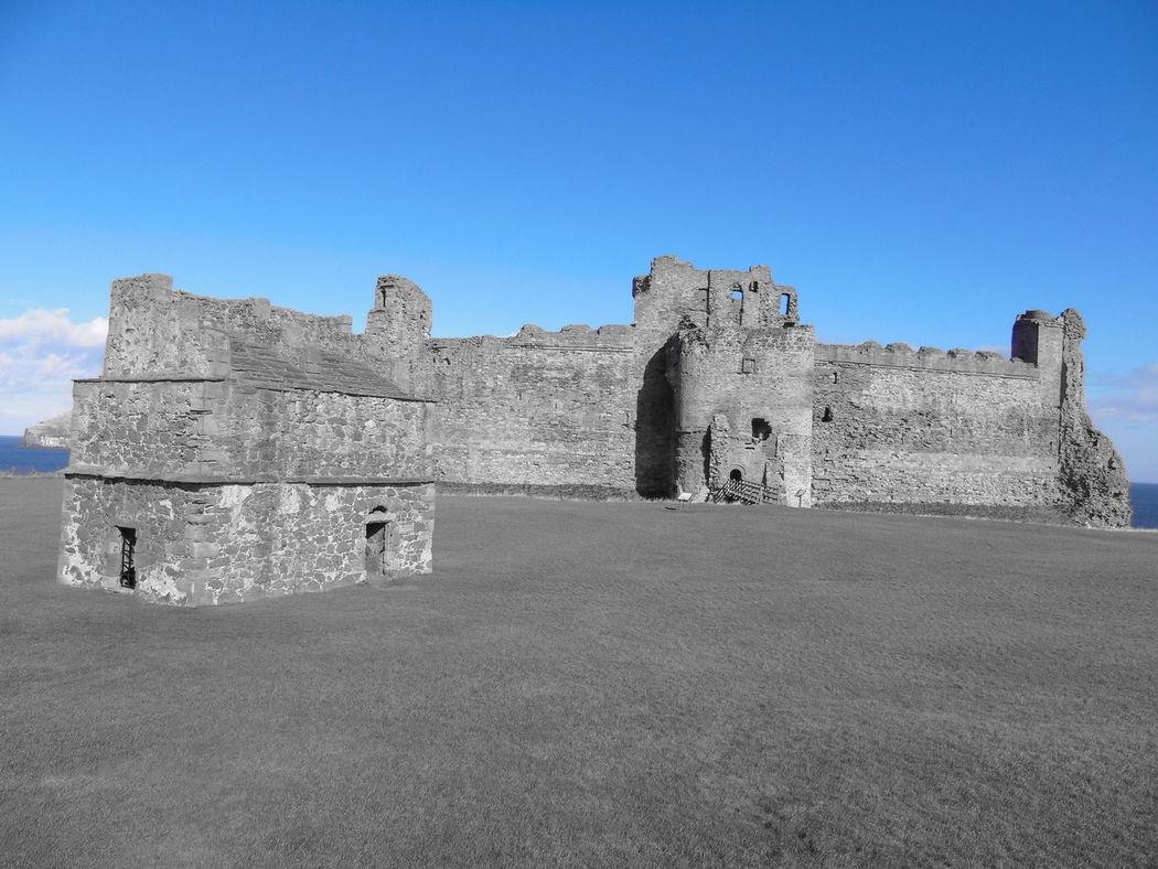 Castle Landscape History Outdoors Scotland Contrast Leading Lines Framing Tantallon Castle Colour