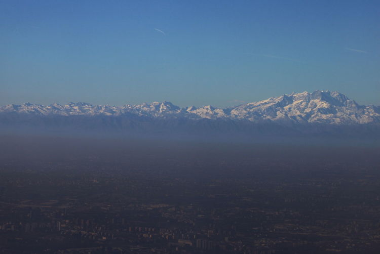 Milano And The Alps Aerial View City Cityscape Day Italy Landscape Mountain No People November 2017 Outdoors Sky