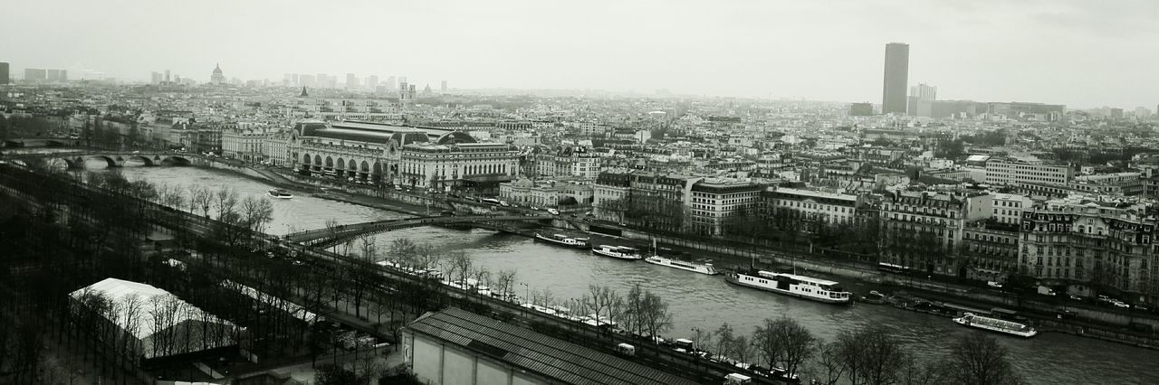 Musée D´Orsay Paris Rainy Day Schwarzweiß Seine City Cityscape City View  City Areal View Black And White Photography Blackandwhite Black & White