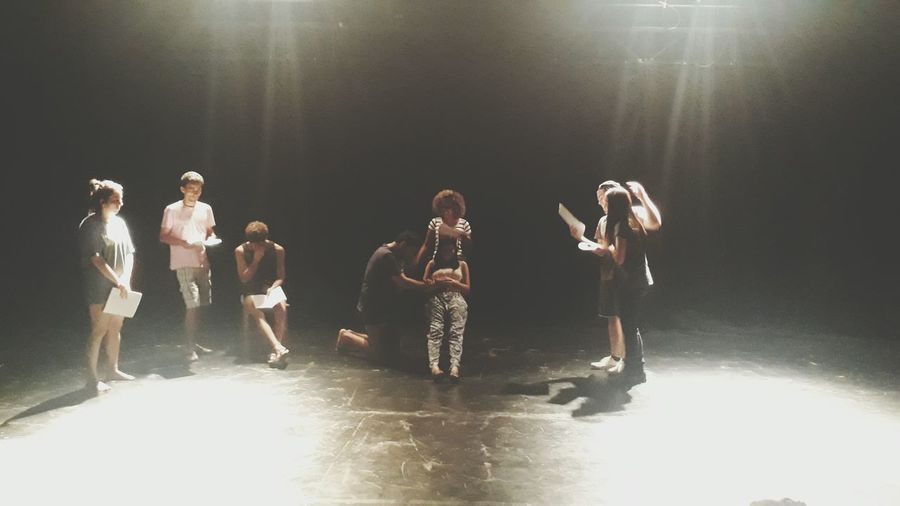 Drama #theatre On Stage #stageart #art #actress #actors #love Fun Adult Young Adult Full Length Water People Togetherness Performing Arts Event