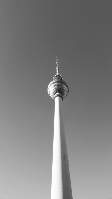 TV Tower Black And White Berlin Alexanderplatz Tower Communication Low Angle View Tall - High City Broadcasting Travel Travel Destinations No People Built Structure Tourism Architecture Day Outdoors Building Exterior Global Communications Antenna - Aerial Technology Sky Radar