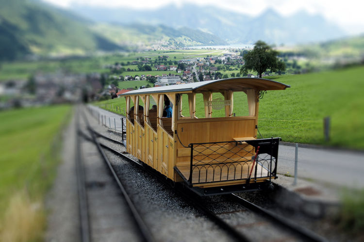 Stanserhorn Cable Railway Connection Famous Place Funicular History Mountain Schweiz Standseilbahn Stans Stanserhorn Switzerland Tourism Travel Destinations Vacations