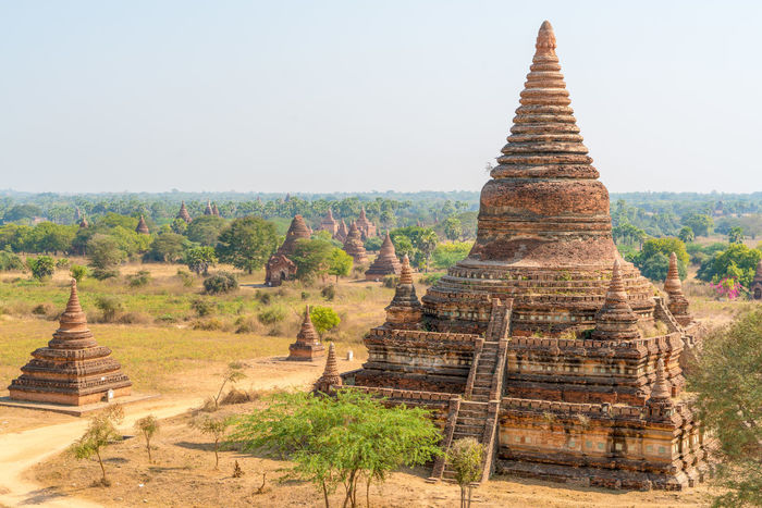High Resolution Pagoda Ruins Travel Ancient Architecture Ancient Civilization Bagan Bagan, Myanmar Buddhism Burma Day Myanmar No People Outdoors Plain Temple Travel Destinations