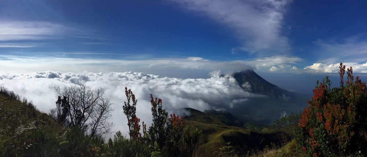 Volcano Mountain Cloud Summit Merapi Merbabu