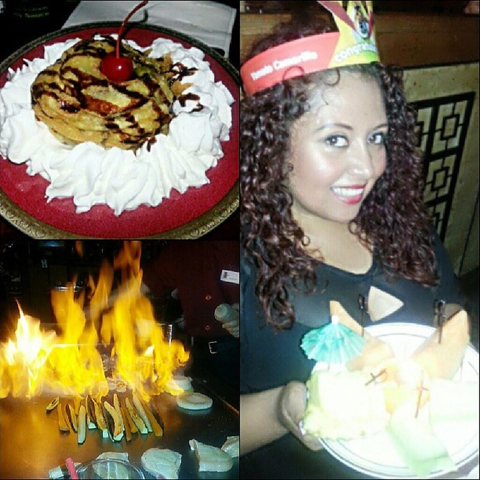 Birthday dinner with my family! They had me wearing that ugly crown ugh ?
