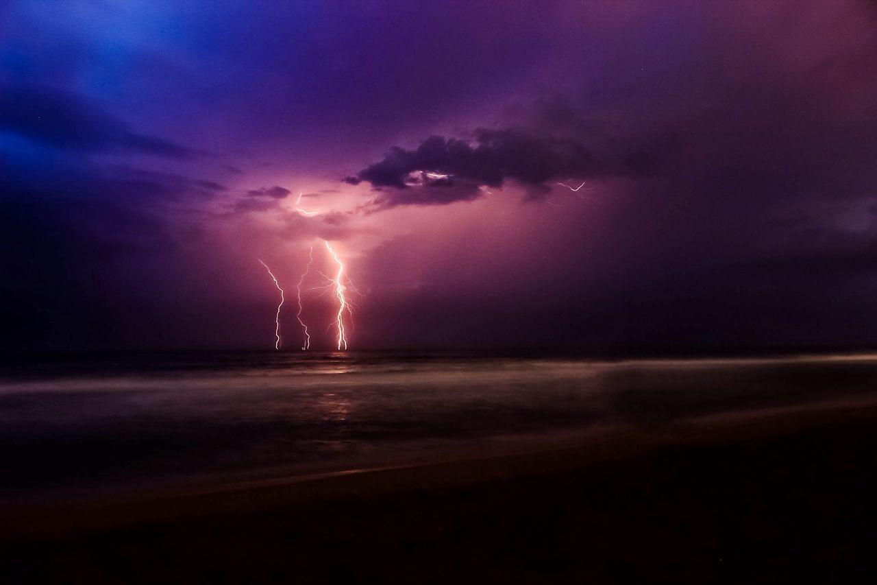 Beautiful stock photos of lightning, Beauty In Nature, Danger, Extreme Weather, Lighting