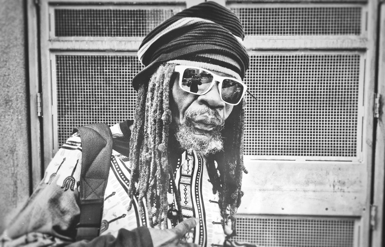 Close-up Day Leisure Activity Lifestyles Man One Person Outdoors RASTA Rastafarian Real People Street Photography Sunglasses