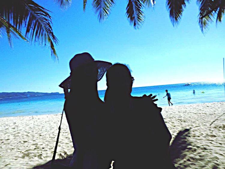 Glitch Silhouette Beach BoracayIsland Motherdaughter Motherlylove Inspiration Strength