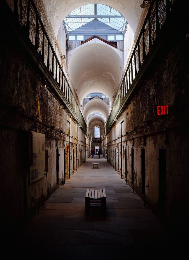 Vanishing Point Prison Architecture Eastern State Penitentiary Exploring Philly Being A Tourist Philly Philadelphia FUJIFILM X-T1