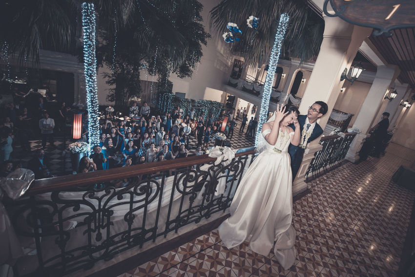 Bride Wedding Dress Wedding Togetherness People Real People Women Men Life Events Bridegroom Outdoors Wedding Wedding Photography Wedding Day Lifestyle Wedding Ceremony Wedding Party Two People Wedding Ceremony-thai Style Adults Only Window Wife Young Women Full Length Adult