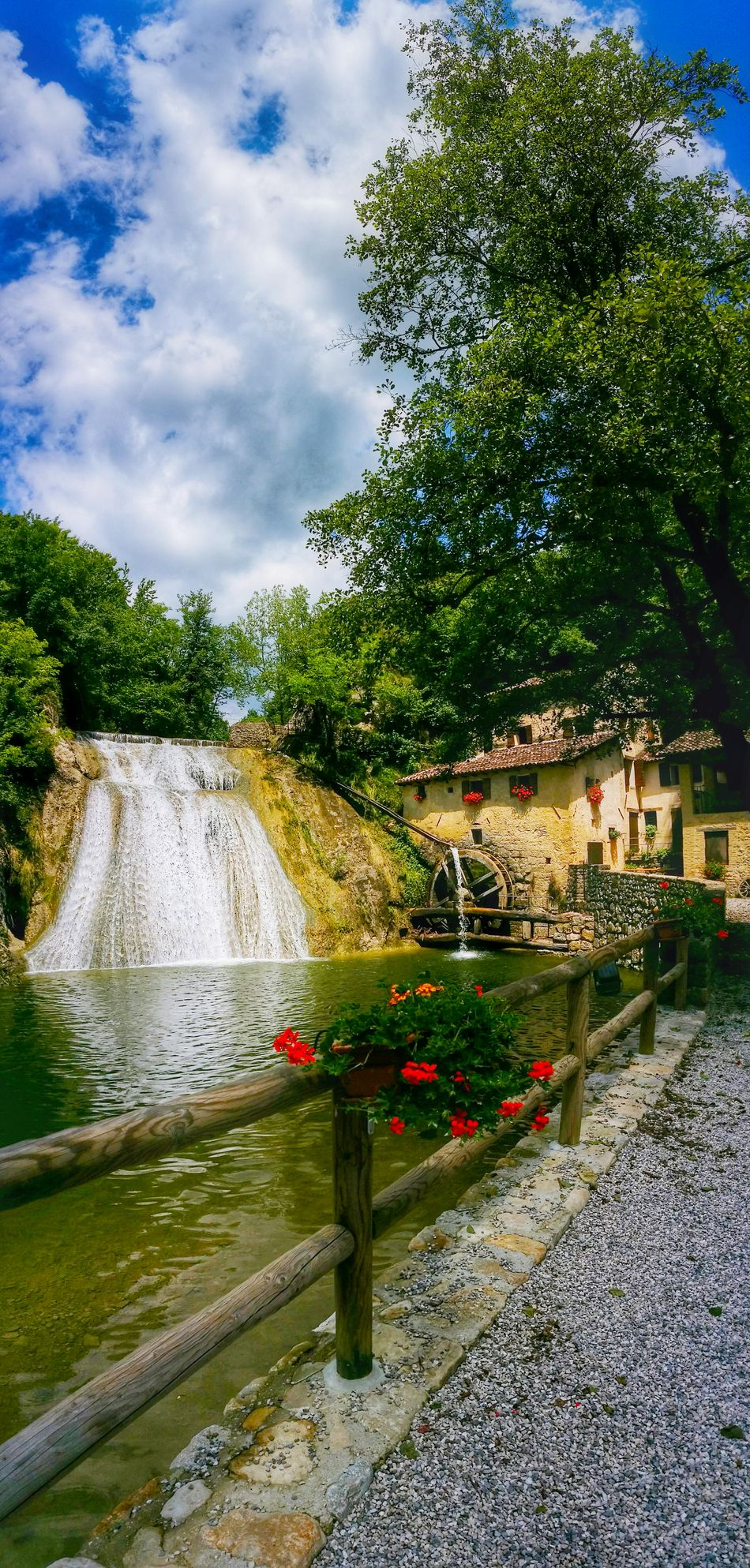 Lierza River Molinetto Della Croda Refrontolo Treviso Veneto Italy Travel Photography Travel Voyage Traveling Mobile Photography Fine Art Panoramic Views Vertical Landscapes Idyllic Sceneries Relaxing Moments Spectacular Landscapes Architecture Watermills Waterfalls Wooden Railings Trees And Clouds Patterns Reflections And Shadows Fine Art Photography Showcase July
