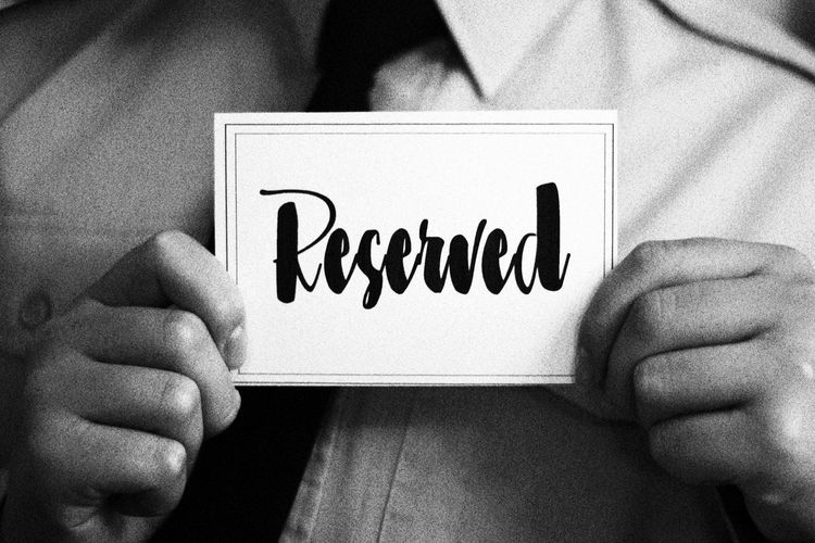 Reserved . . . Bistro Bistro Table Black & White Black And White Black And White Collection  Black And White Photography Black&white Blackandwhite Blackandwhite Photography Blackandwhitephotography Cafe Eatery Monochromatic Monochrome Monochrome Photography Monotone Reservation Reservation For Two Reserved Restaurant Sign Signage Table Sign