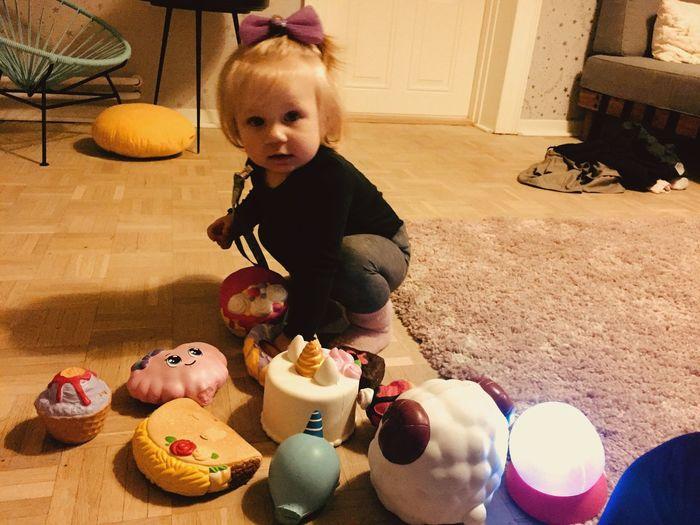 Baby Girl Food And Drink Childhood Indoors  Food High Angle View