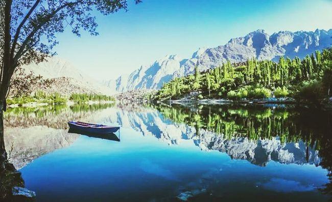 Upper Kachura Lake-Pakistan Beautiful Pakistan Beauty In Nature Love Thy Nature Lake Pakistani Traveller Pakistan Travel Photography Travelphotography Throwback Reflections Reflection_collection Wanderlust Naturelovers