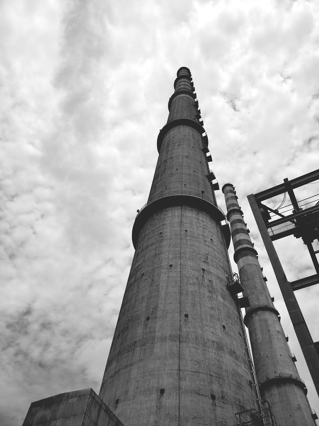 Low Angle ViewTravel Destinations No People Outdoors Factory Innovation Sky Day Karnataka TheWeek On EyEem Landscape_Collection Monochrome Bnw Blackandwhite India Clouds_of_our_world Architecture Architecture Built Structure