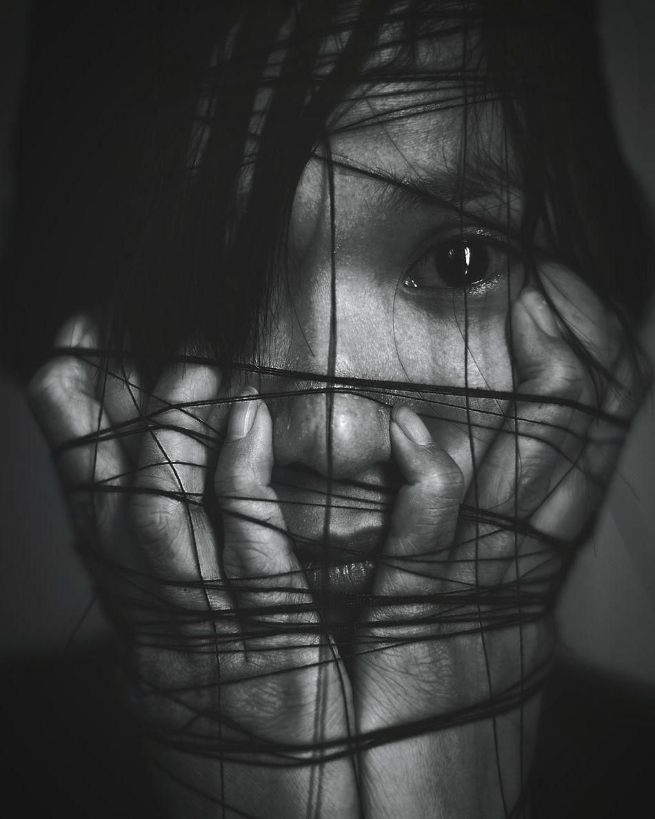 Beautiful stock photos of emotion, Bound, Fear, Girls, Headshot