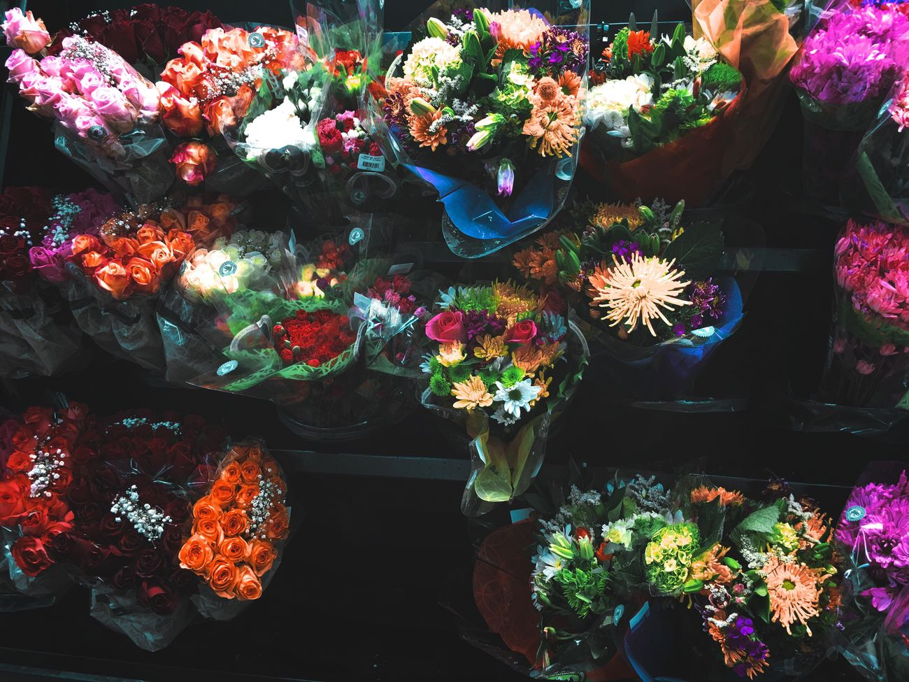 Flower Multi Colored High Angle View For Sale Beauty In Nature Flower Market Bouquet Flower Shop Freshness Choice Indoors  Nature