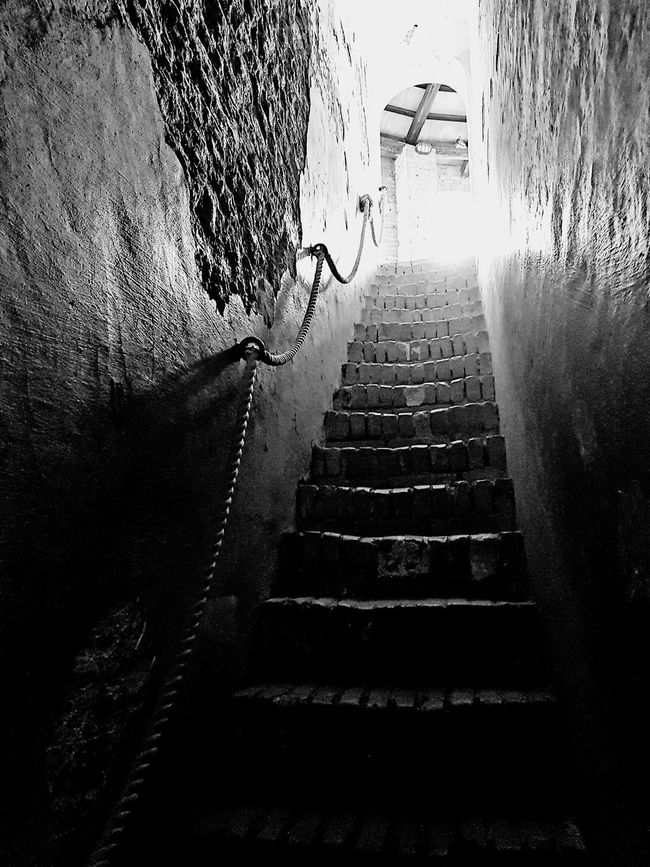 Stairs Blackandwhite Photography Taking Photos Stand Up Castle Italy Dozza