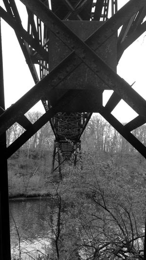Built Structure Day Nature No People Outdoors Railroad Bridge Railway Bridge Sky Tree Underneath