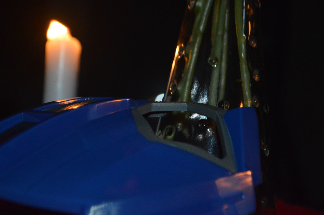 close-up, old-fashioned, night, no people, retro styled, illuminated, selective focus, indoors, blue, flame, technology