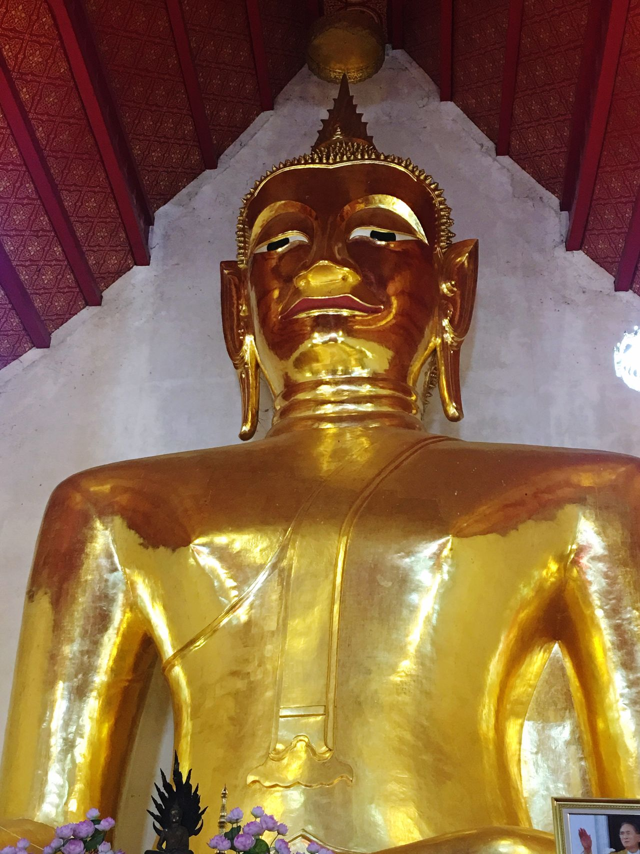 Religion Spirituality Statue Gold Colored Place Of Worship Gold No People Sculpture Indoors  Day