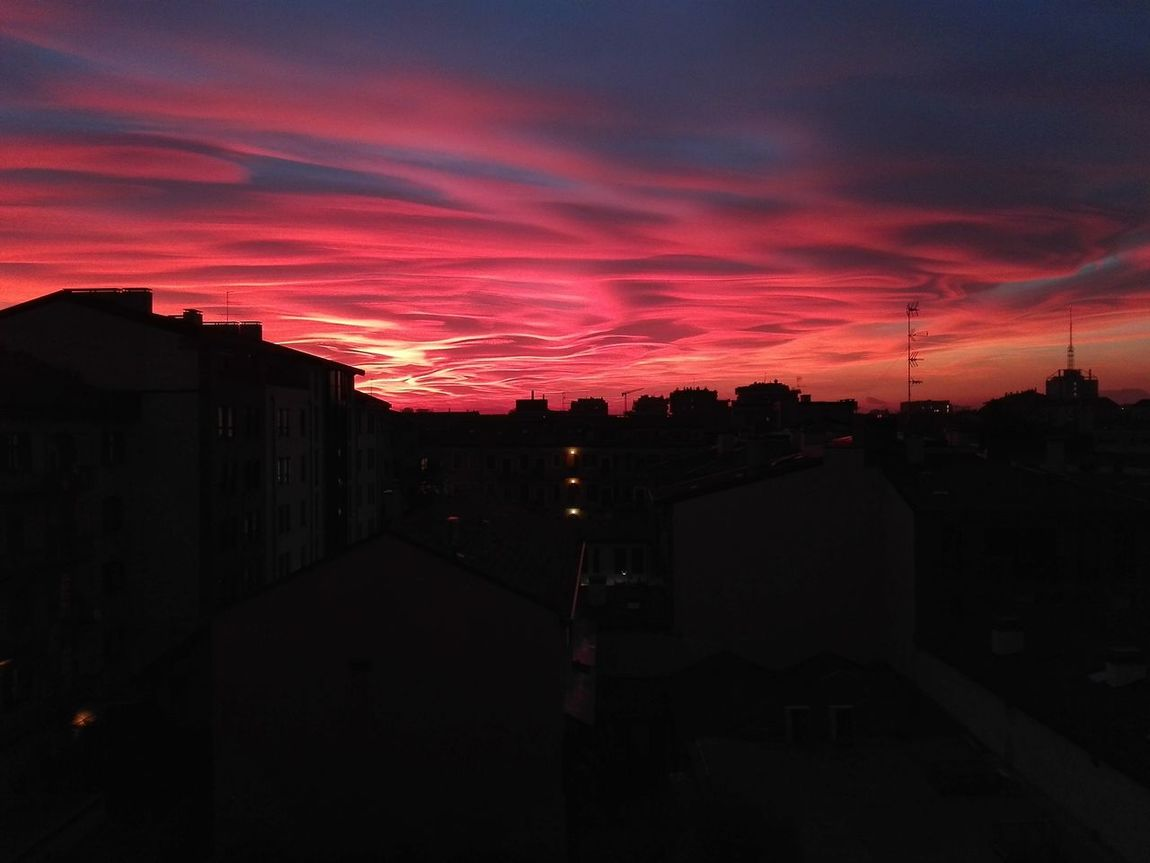Sunset Cloud - Sky Red Sky Tramonti_italiani Skyline Sky Collection No Filter WhithoutFilter