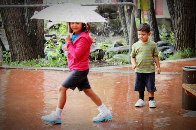 Playing in the rain Kids Being Kids Rainy Day Playing In The Rain
