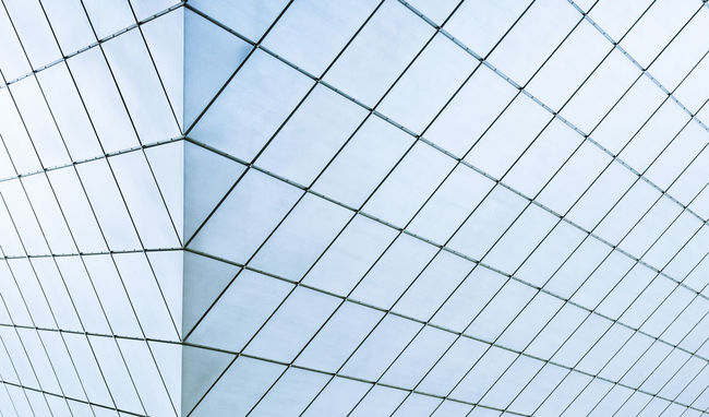 Glass facade Abstract Architecture Backgrounds Building Exterior Built Structure Clean Day Facade Building Glass Low Angle View Minimalistic Photography No People Outdoors Powder Blue Technology Vanishing Point