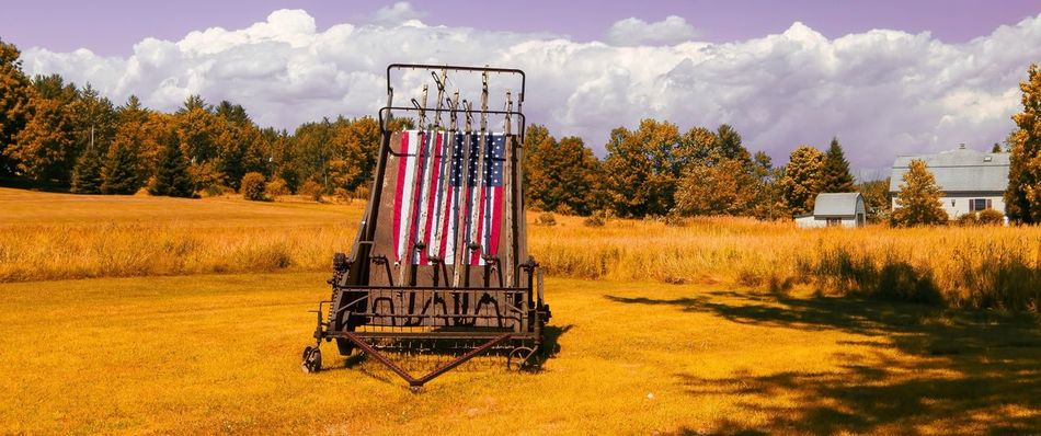 Beautiful stock photos of farm, American Culture, American Flag, Cart, Cloud
