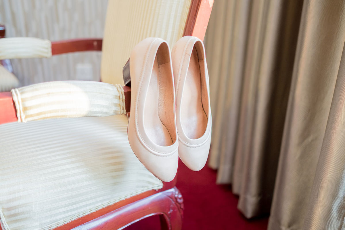 Chair Heels Wedding Wedding Details Close-up Coathanger Curtain Day Hanging Indoors  No People Shoes Skin Color Still Life White Color