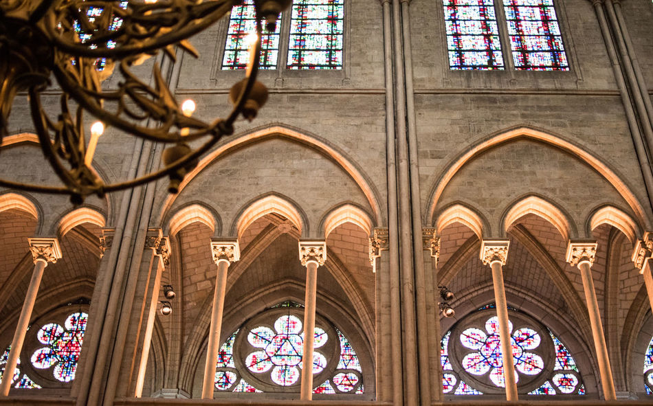 Notre-Dame de Paris Arch Architecture Built Structure Check This Out Day Eye For Photography Eye4photography  EyeEm Best Shots EyeEm Gallery EyeEmBestPics Hello World History Indoors  Low Angle View No People Place Of Worship Religion Spirituality Travel Destinations Window