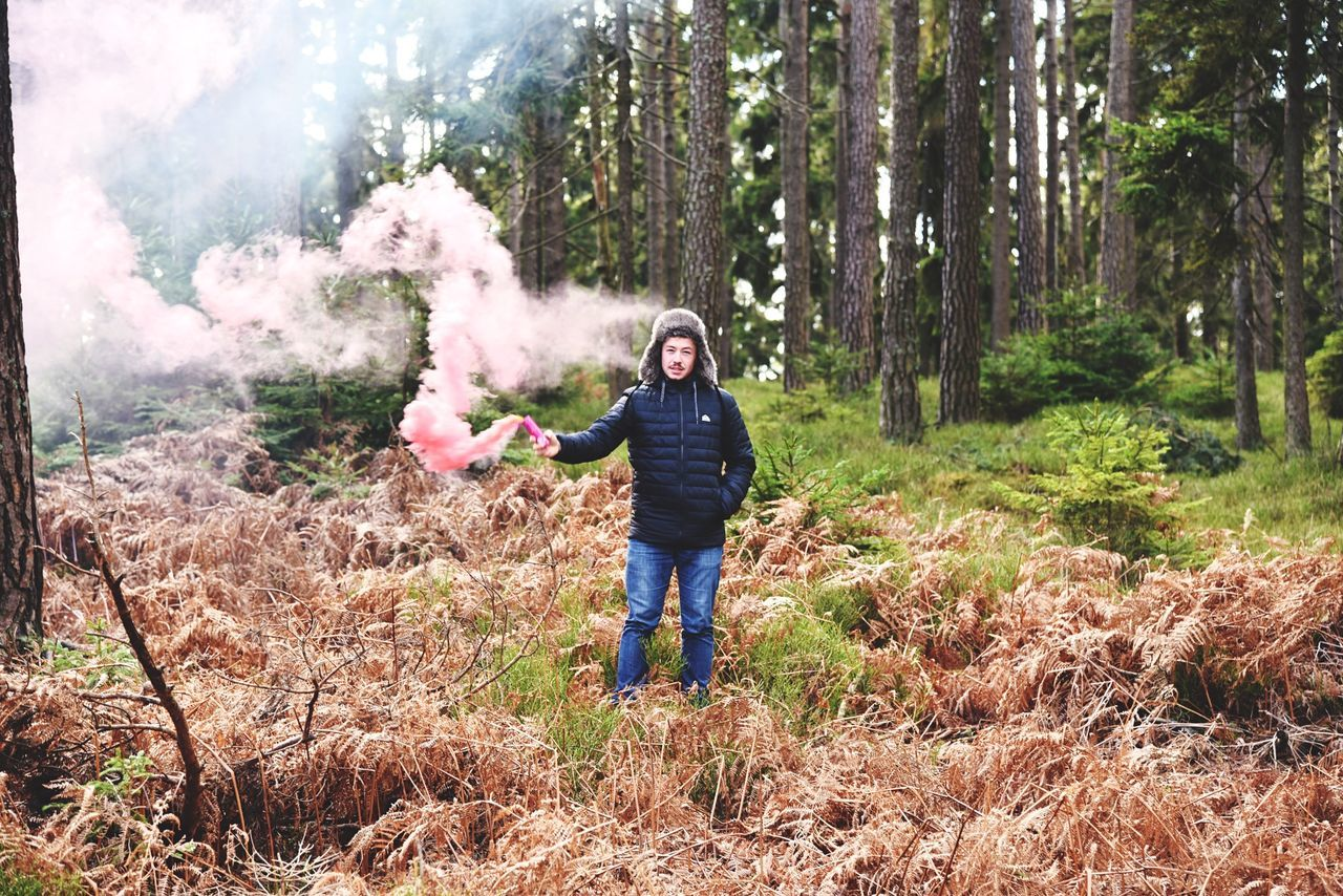 Beautiful stock photos of smoke, Caucasian Ethnicity, Communication, Day, Forest