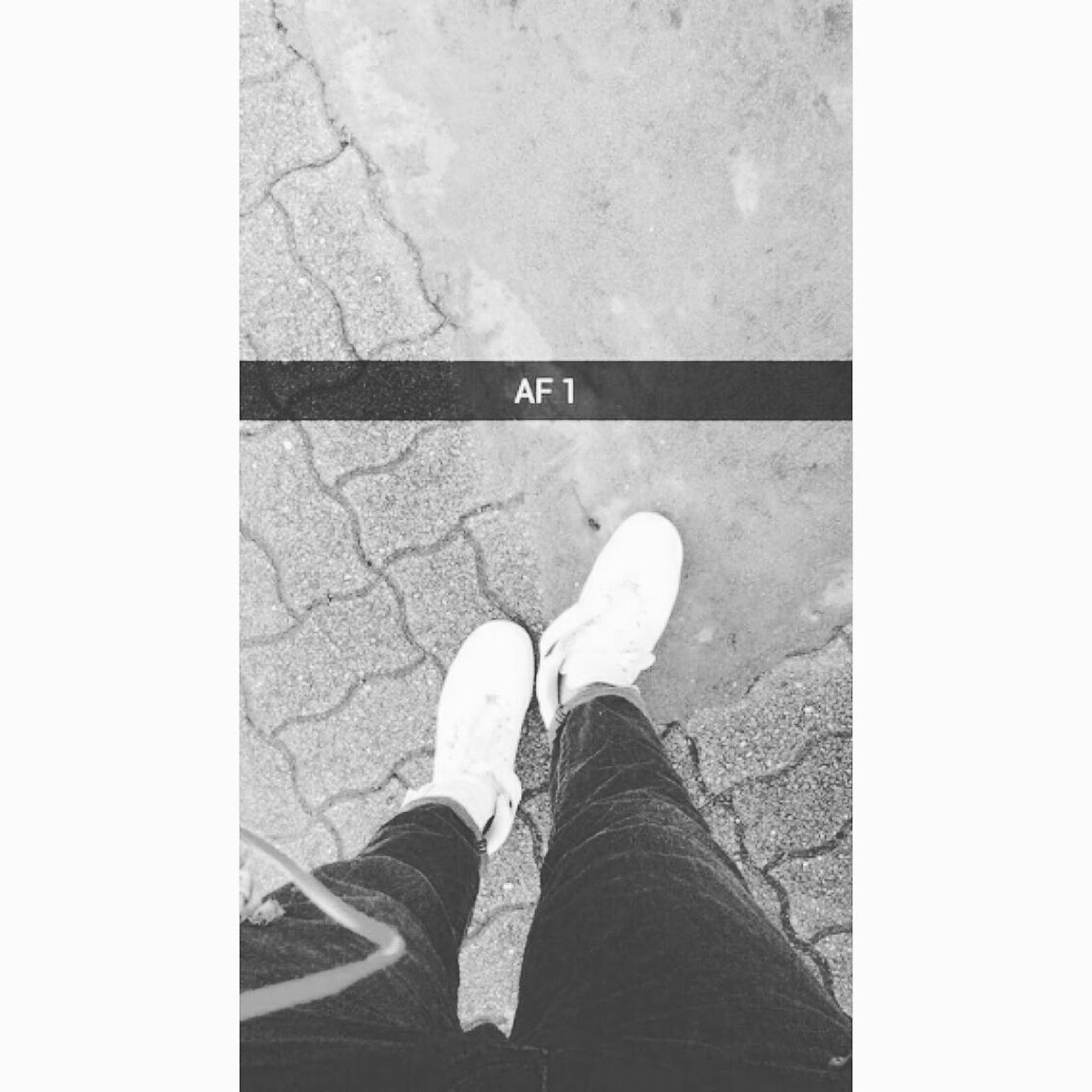 Black And White AF1  Airforce1 Urban Lifestyle