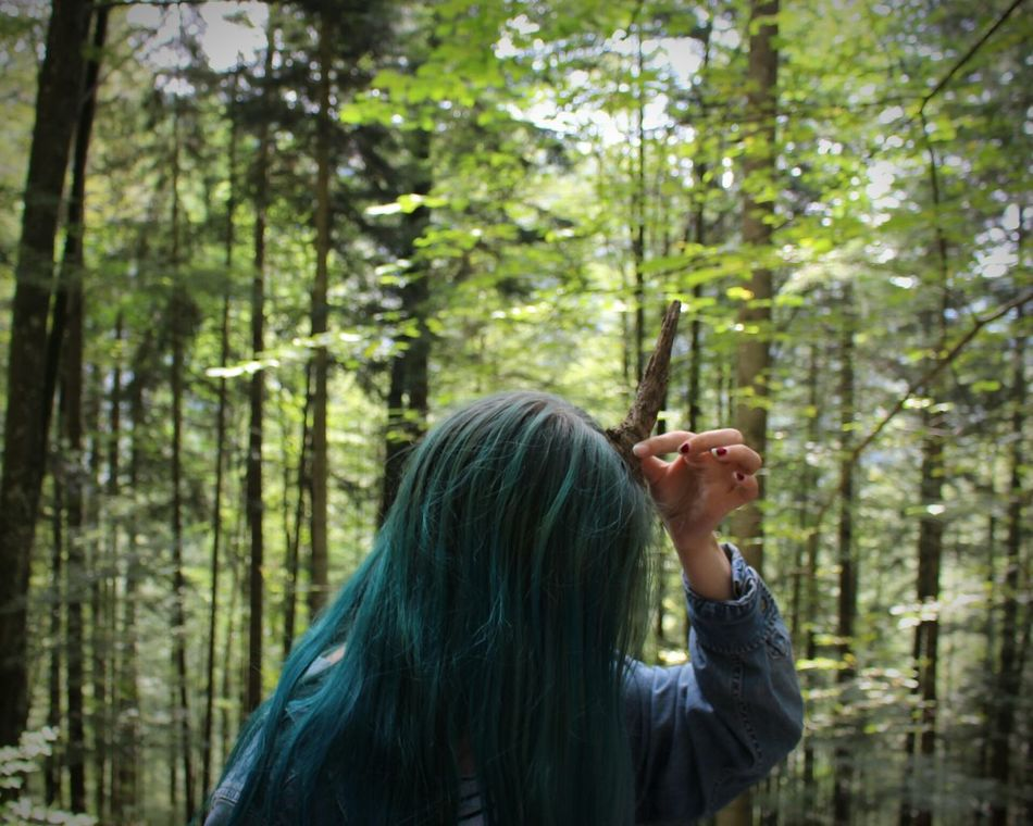 Beautiful stock photos of einhorn,  14-15 Years,  Day,  Dyed Hair,  Focus On Foreground