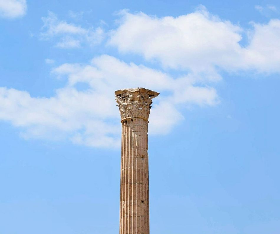 Athens.Greece Architectural Column Cloud - Sky Low Angle View Sky Architecture Old-fashioned EyeEm Gallery Coloum Greece 3XSPUnity EyeEmNewHere Athens Photography EyeEm Best Shots Archaeology Old Ruin The Past Ancient Civilization Travel Destinations Hellas Ancient Ancient History Detailphotography