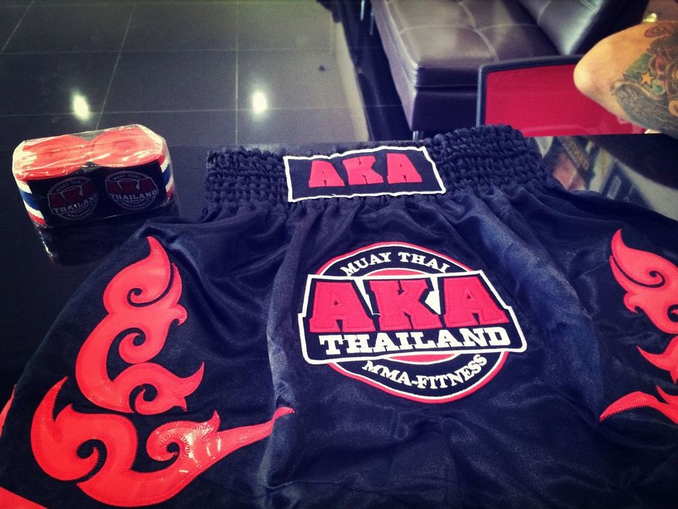 My new Muay Thai short and Thai flag hand wraps;)❤️? That's Me Boxing MuayThai Fighting
