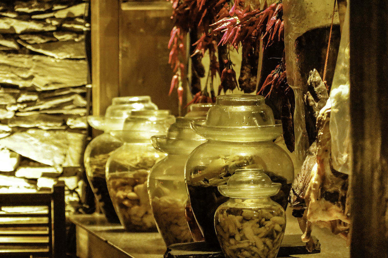 Attraction China Destination Indoors  Ingredients InterContinental Jars  JiuZhai Jiuzhaigou Kicthen No People Paradise Peppers Photography Pottery Preparation  Preserved Resort Restaurant Sichuan Storage Tourism Tourist Travel Trip