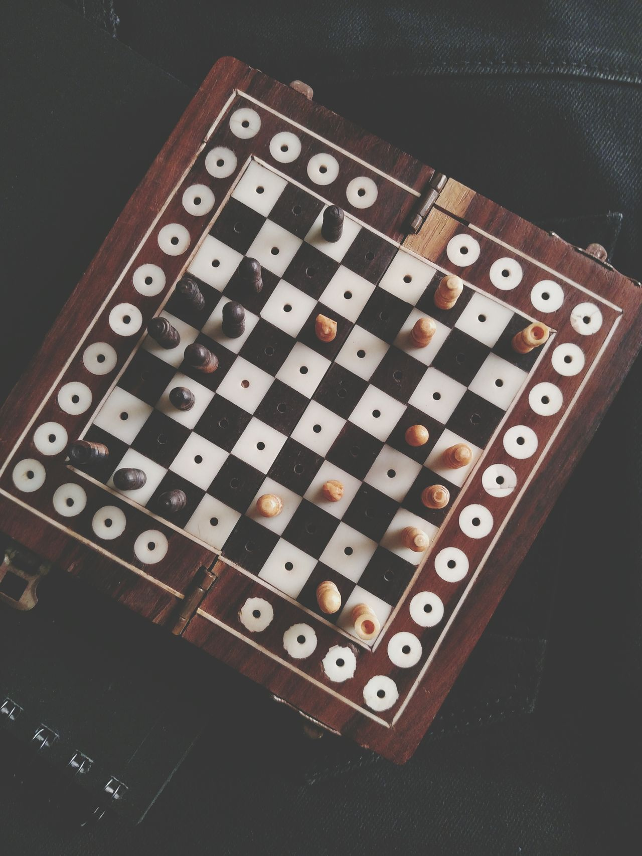 Wooden Chess Chess Board Chesspieces Old Wooden Chess No People Small Old Indoors  Day Classic Vintage Vintage Stuff Rare Items Cool Stuff Cool Old Is Gold Close-up Old Style India Indian Mobile Photography Lieblingsteil Be. Ready.