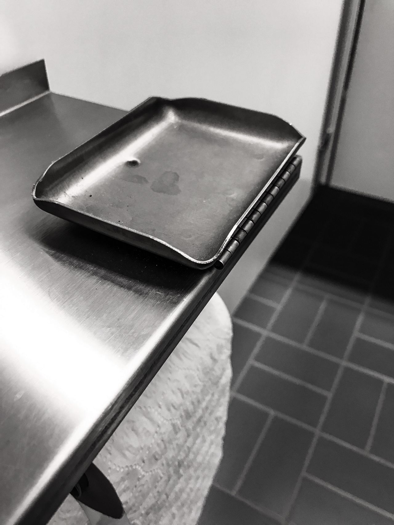 Odd find in a restroom Indoors  Metal Close-up No People Monochrome Photography Restroom Ashtray