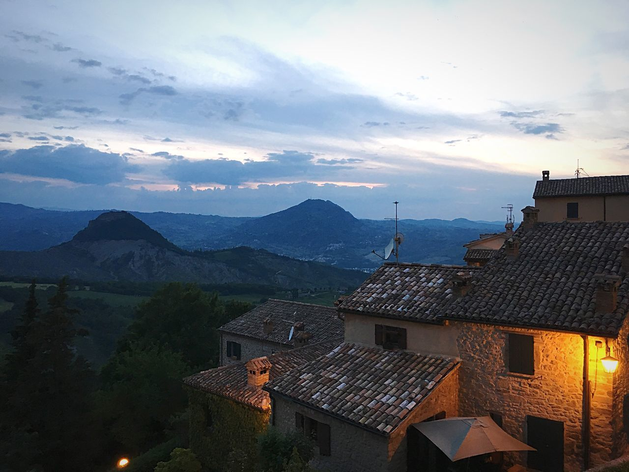 Architecture Building Exterior Built Structure House No People Sky High Angle View Outdoors Cloud - Sky Mountain Roof Nature Day Tiled Roof  Beauty In Nature Sanleo Montefeltro